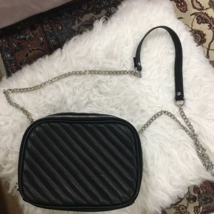 F21 faux leather quilted crossbody